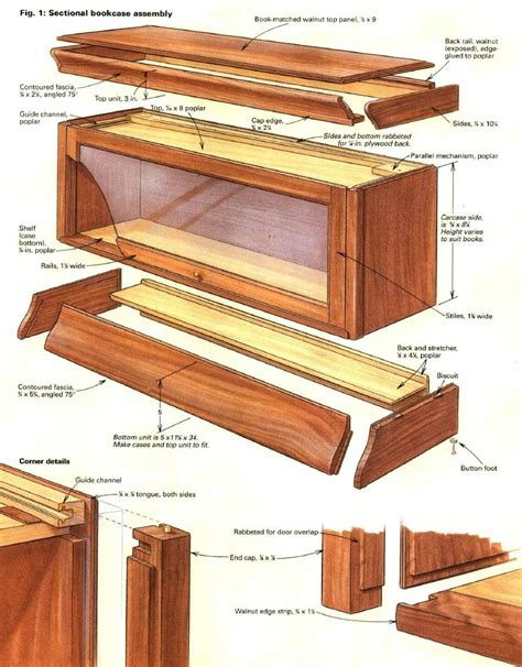 how to build a barristers bookcase diy furniture in 2019