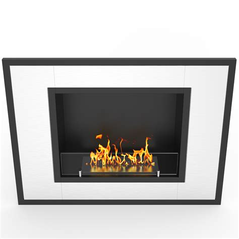 In Wall Ethanol Fireplace by 32 Inch Ventless Built In Recessed Bio Ethanol Wall