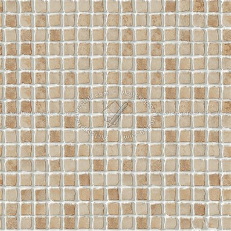 Hand painted mosaic tile texture seamless 15618