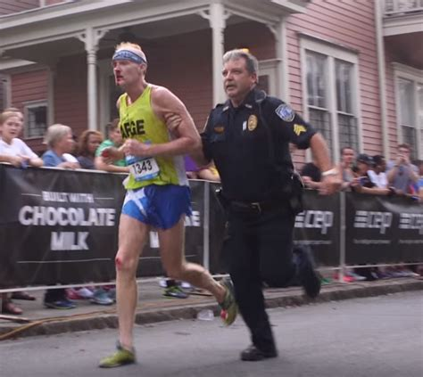 Officer Run by Toughest Race Photo Bloodied Runner Finishes With