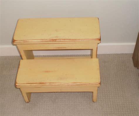 small decorative step stool yellow solid wood 2 step stool decorative useful oak bay