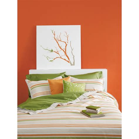 orange and green comforter springmaid baxter orange and green stripe comforter set
