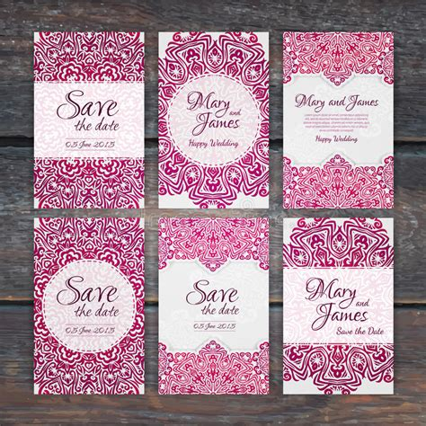 wedding invitation ornament circles lacy vector wedding card template vintage wedding invi stock vector image 55092600