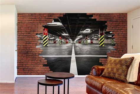 Ordinaire Decoration Mur De Salon #7: Trompe-oeil-break-parking.jpg