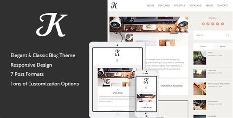 themes wordpress envato k theme a responsive wordpress blog theme by