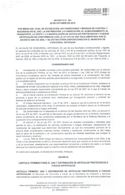 decreto 1069 de 2015 inicio decreto no 081 de 2015