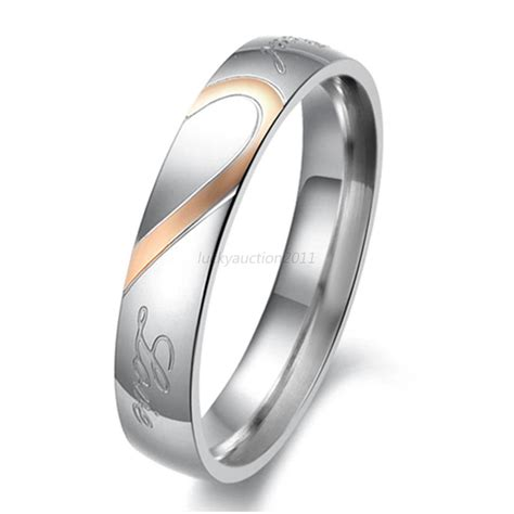 womens stainless steel quot real quot couples