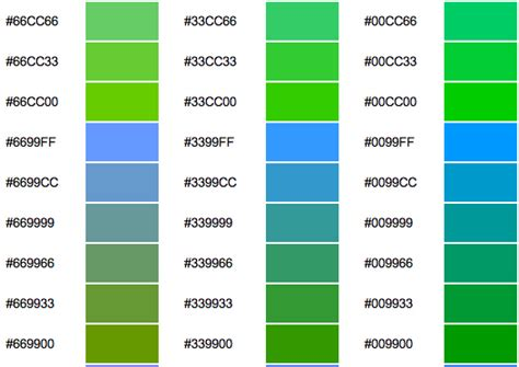 green color code change colors on the leap cms hexadecimal colours reference