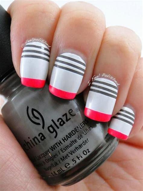 imagenes de uñas rojas con blanco moda dise 241 o de u 241 as y m 225 s colores combinaciones y