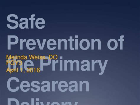c section safe safe prevention of primary cesarean section