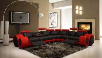 Comfort Recliner By American Leather 4087 Red And Black Leather Sectional Sofa With Recliners