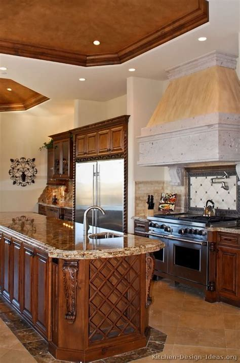 Tuscan Kitchen Cabinets by Traditional Medium Wood Golden Kitchen Cabinets 84