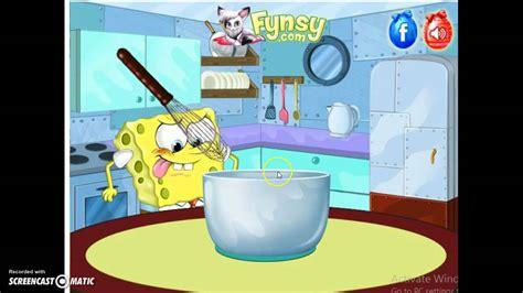 spongebob cooking