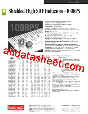 coilcraft inductors datasheet 1008ps 472klb datasheet pdf coilcraft lnc