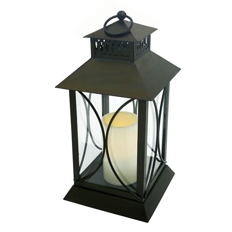 neuporte flameless candle lantern with timer indoor outdoor