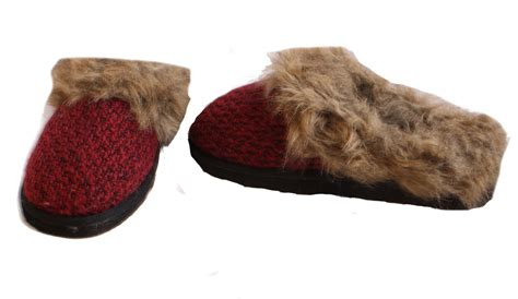 red house slippers cabernet slippers womens red or brown house shoes multiple sizes ebay