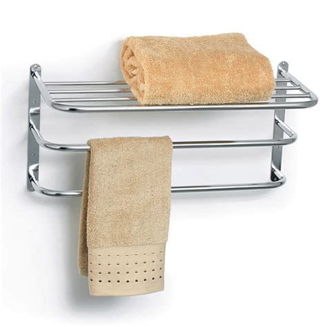 Bathroom Towel Rack With Shelf by Chrome Towel Rack With Shelf In Wall Towel Racks