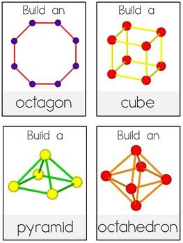 building shapes task cards: 2d & 3d shapes by rita