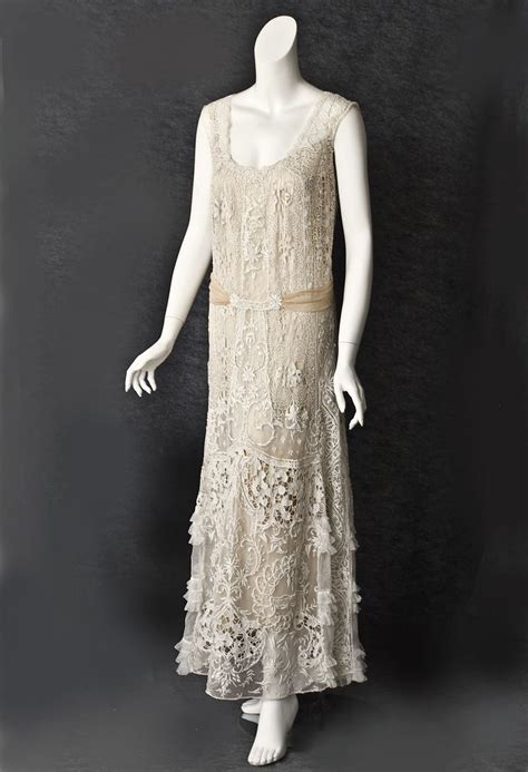 1920s Fashion At Vintage Textile by 1920s Clothing At Vintage Textile 2802 Lace Tea Dress