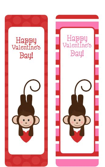 printable monkey bookmarks printable valentine s day bookmarks monkeys surviving