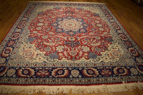 knotted isfahan 8 x 10 area rug high end