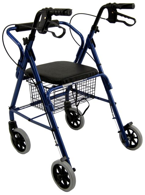 rollator walker with seat and brakes karman r 4100 low seat junior narrow rollator with loop