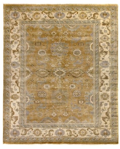 Antique Looking Area Rugs Shop Houzz Exquisite Rugs Sparna Antique Style Woven Oushak Rug Gold And Ivory 8 X10 Area