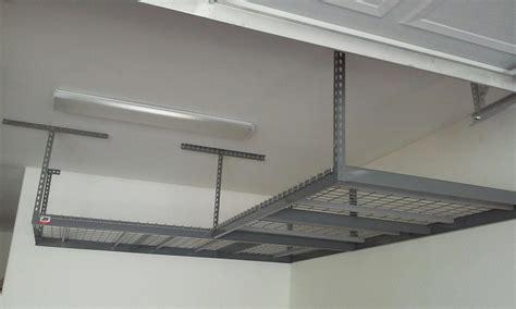 how to install overhead garage storage racks