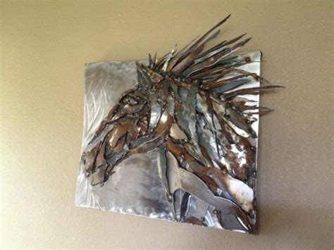 Home Decor Wall Sculptures by Metal Art Sculpture Horse Head Wall Hanging For Home Or