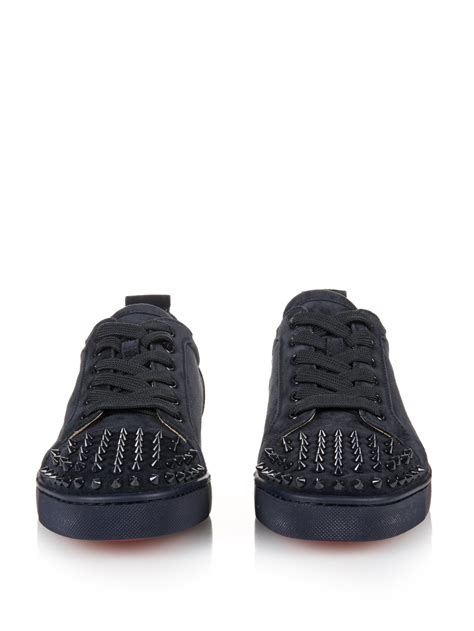 christian louboutin for sneakers christian louboutin louis suede low top sneakers in blue
