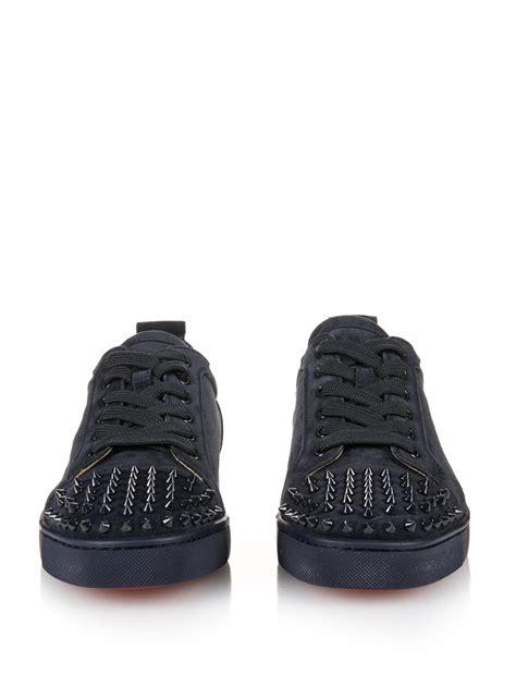 louboutin sneaker lyst christian louboutin louis suede low top sneakers in