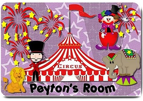 circus rug circus personalized mats door mat or rug for bedroom bsec ct