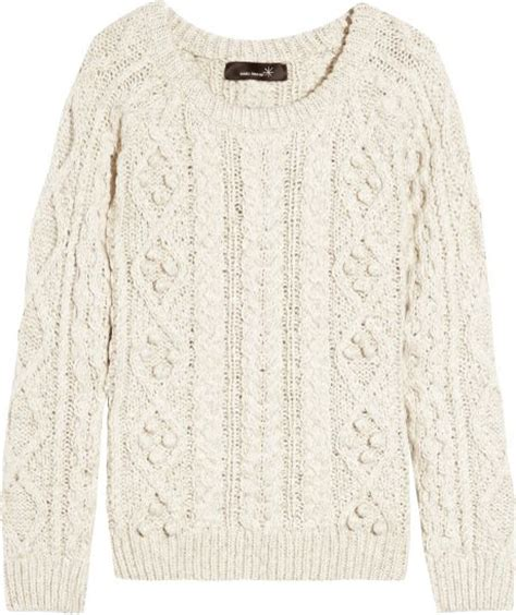 cotton cable knit sweater marant cable knit cotton and linen blend sweater in