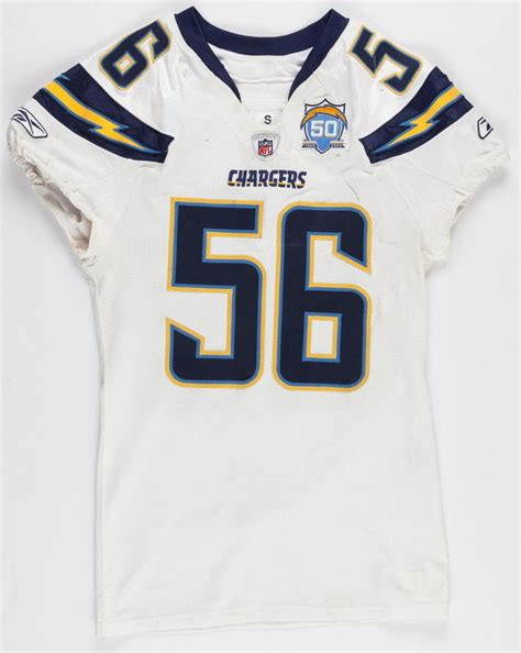 shawn chargers 2009 shawn merriman s d chargers worn jersey w