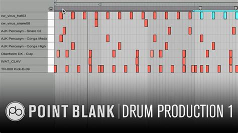 drum pattern programming drum production sound design in ableton live part 1