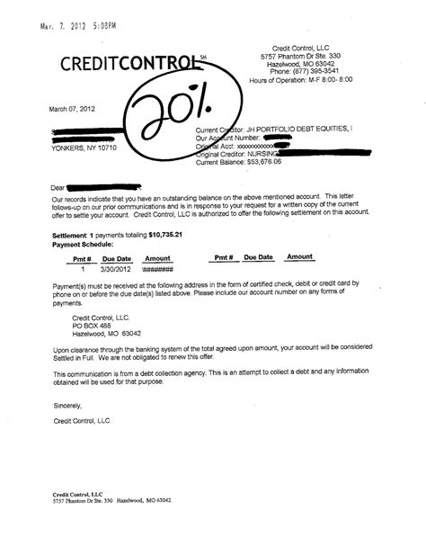 Letter Of Credit Card Settlement Format Credit Card Debt Settlement Letters