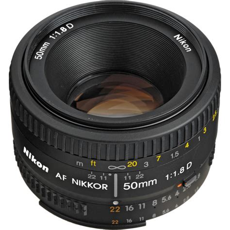 Nikon Lensa Af Nikkor 50mm F 1 8d nikon af nikkor 50mm f 1 8d lens 2137 b h photo