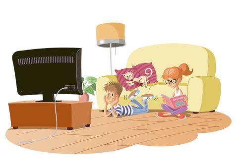 imagenes animadas viendo tv marc alberich illustration comic children watching t v