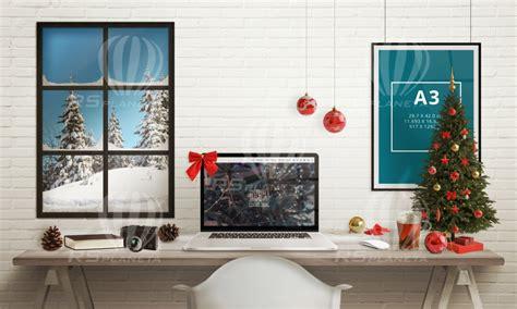 decorate your desk for christmas 28 best christmas desk christmas desk mockup scene