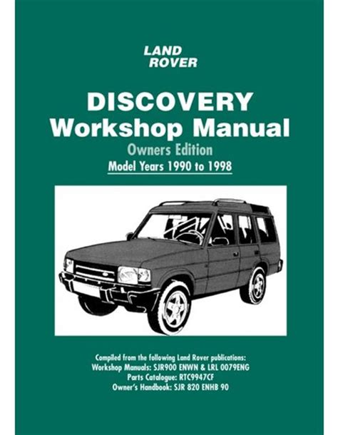 automotive repair manual 1990 land rover range rover security system land rover discovery owners edition workshop manual 1990 1998 book ebay