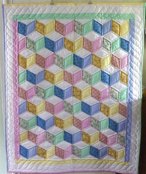 Handmade Amish Quilts For Sale - tumbling blocks baby quilt amish spirit handmade quilts