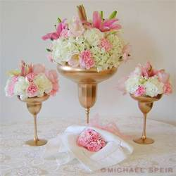 Gold Vase Centerpieces gold daiquiri vase centerpiece weddingbee photo gallery