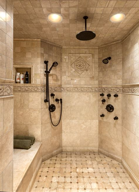 bathroom shower tile pictures master custom tile shower baie pinterest