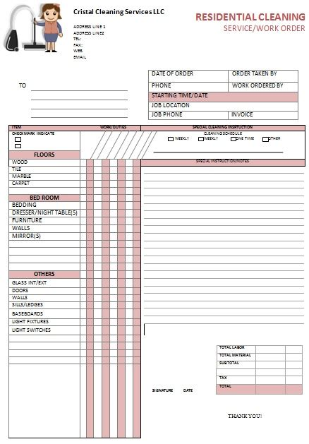 Cleaning Invoice Template by Invoice Template For Janitorial Services