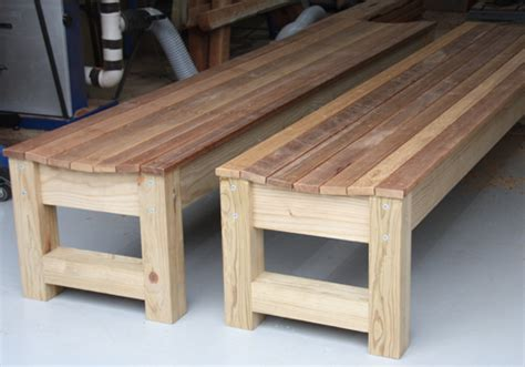comfortable bench seating solid merbau clad bench seat