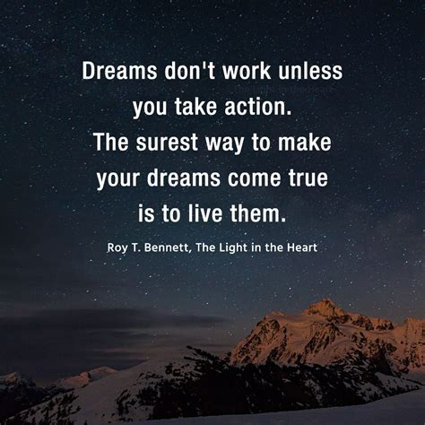 planning your dreams dreams do not work unless you take action the light in