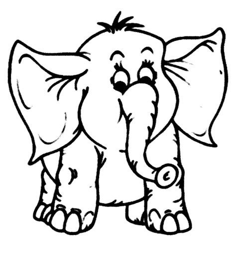 Cetak Warna Transparan Clear Tanpa Putih Ukuran A4 mewarnai gambar gajah pilihan untuk paud dan tk mewarnai gambar