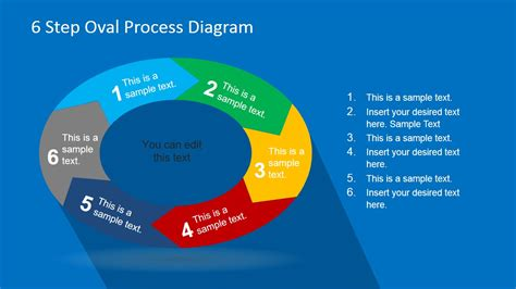 oval circular process diagram for powerpoint slidemodel 6 step oval process diagram template for powerpoint