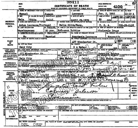 Marin County Marriage Records Pa Criminal Michael Smalls Certificate San