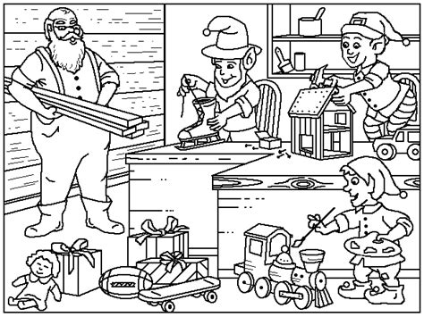coloring pictures of santa workshop santa s coloring page